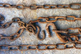 Strong solid rusty chain — Stock Photo