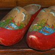 Royalty-Free Stock Photo: Used decoreted wooden shoes