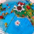 Stock Photo: Flowered South AmericGlobe