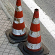 Road with traffic cones — Zdjęcie stockowe #8086615
