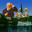 Victor Hugo Portrait in Paris - Stock Photo