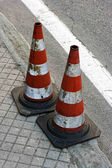 Road with traffic cones — Stock Photo