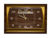 Vintage wooden clock — Stock Photo