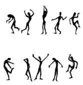Dansen van mannen en vrouwen — Stockfoto