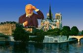 Victor Hugo Portrait in Paris — Stock Photo