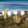 Adoration of the Magi isolated with working path — Stock Photo