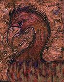 Fire bird — Stock Photo