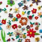 Plasticine Flowers — Stock Photo