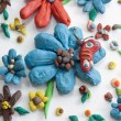 Plasticine Flowers — Stock Photo