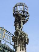 Art Nouveau statues — Stock Photo