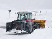 Snowplow tractor — Stock Photo
