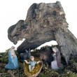 Old Presepio nativity scene - Stock Photo