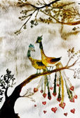 Birds in love — Stock Photo