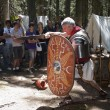 Roman legionary fights — Stock Photo