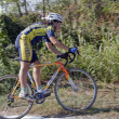 Stock Photo: Young female ciclocross competitor