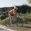 Foto Stock: Young cyclist in competition