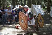 Roman legionary fights — Stock Photo