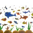Plasticine fishes - Stock Photo