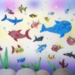 Plasticine marine life — Stock Photo