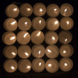 Candles Square — Stock Photo
