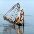 Boat on Inle Lake,Myanmar — Stock Photo