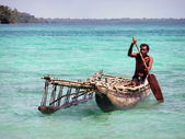 Fisherman pirogue — Stock Photo