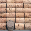 Wine cork background — Stock Photo