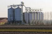 穀物貯蔵用サイロ — ストック写真