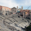 Roman theater ruins in Catania, — Stock Photo