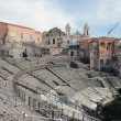 Roman theater ruins in Catania, — Stock Photo #9270620