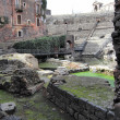Roman theatre ruins in Catania, — Stock Photo #9270674