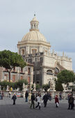 Cathedral square in Catania — Stock Photo