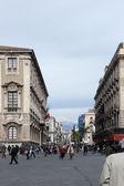 Etnea street, katania, sycylia — Zdjęcie stockowe