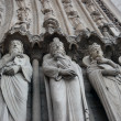 Notre Dame Cathedral Statues , Paris, France — Stock Photo