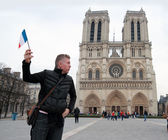 French man flag — Stock Photo