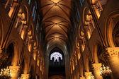Interior of Notre Dame — Stock Photo