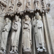 Notre Dame Cathedral Statues , Paris, France — Stock Photo #9665593
