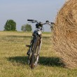 Bike in the country side — Stock Photo