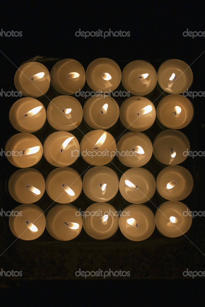 Light of Candles in the dark , view from above — Foto Stock #9991755