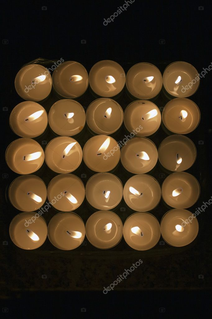 Light of Candles in the dark , view from above  Photo #9991755