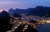 Night view of Botafogo in Rio de Janeiro — Stock Photo