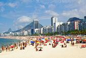 Beach Leme and Copacabana in Rio de Janeiro — Stock Photo