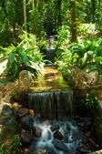 Waterfall in Botanical Garden in Rio de Janeiro — Stock Photo