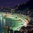 Royalty-Free Stock Photo: Night view of Copacabana beach. Rio de Janeiro