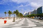 View of Copacabana beach. Rio de Janeiro — Stock Photo