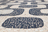 Mosaic of sidewalk Ipanema — Stock Photo