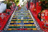 The stairway Selaron in Rio de Janeiro — Stock Photo