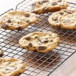 Stock Photo: Cookies cooling on cooling rack