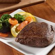 Stock Photo: Seared steak with vegetables