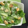 Caesar salad top down view — Foto Stock